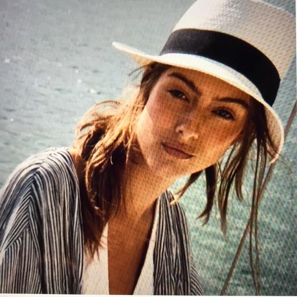 dfdab8395 Halogen Straw Panama Hat NWOT Boutique